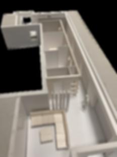 Maqueta de la distribución de un piso