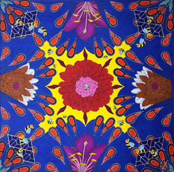 Tranquility in kaleidoscope of life.