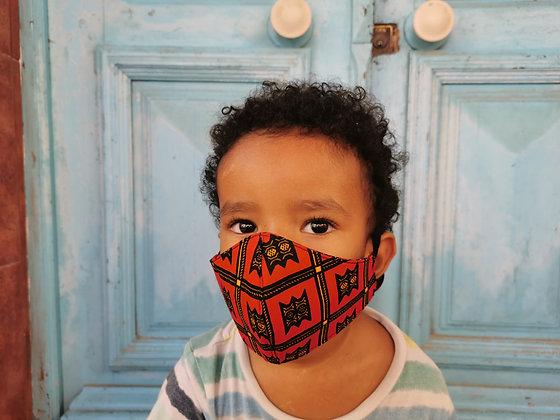 Mascarilla Infantil tela africana Filtro TNT N5