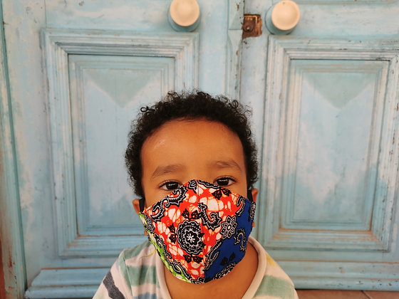 Mascarilla Infantil tela africana con FILTRO TNT N6