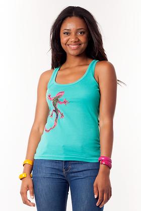 Camiseta nadadora Lagartija tela africana