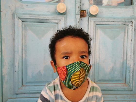 Mascarilla infantil tela africana Filtro TNT N9