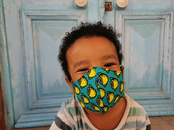 Mascarilla infantil tela africana Filtro TNT N8