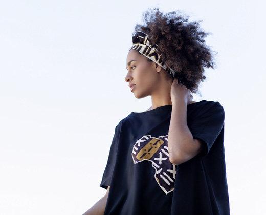 Camiseta Negra Evasé Africa