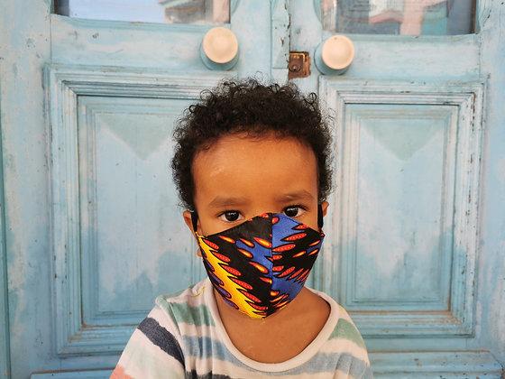 Mascarilla Infantil tela africana Superheroes Filtro TNT N2
