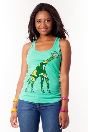 Camiseta básica Jirafa tela africana