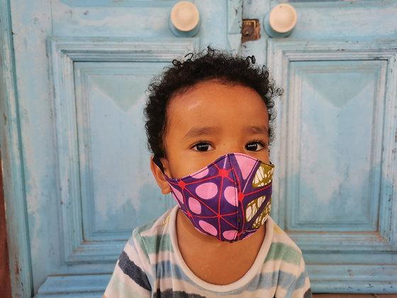 Mascarilla infantil tela africana FILTRO TNT N7