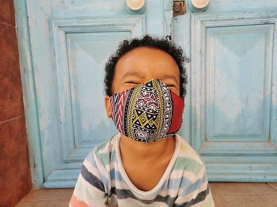 Mascarilla infantil tela africana Filtro TNT N4