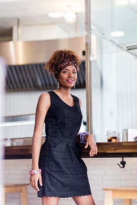Vestido Carolina en Tela africana Brodé