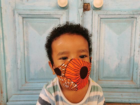 Mascarilla infantil tela africana colores con FILTRO TNT N3