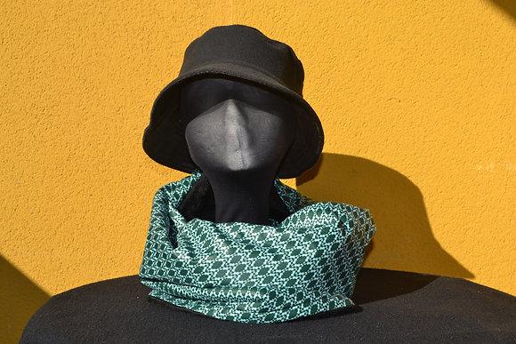Cuello Braga en Tela africana Wax Verde