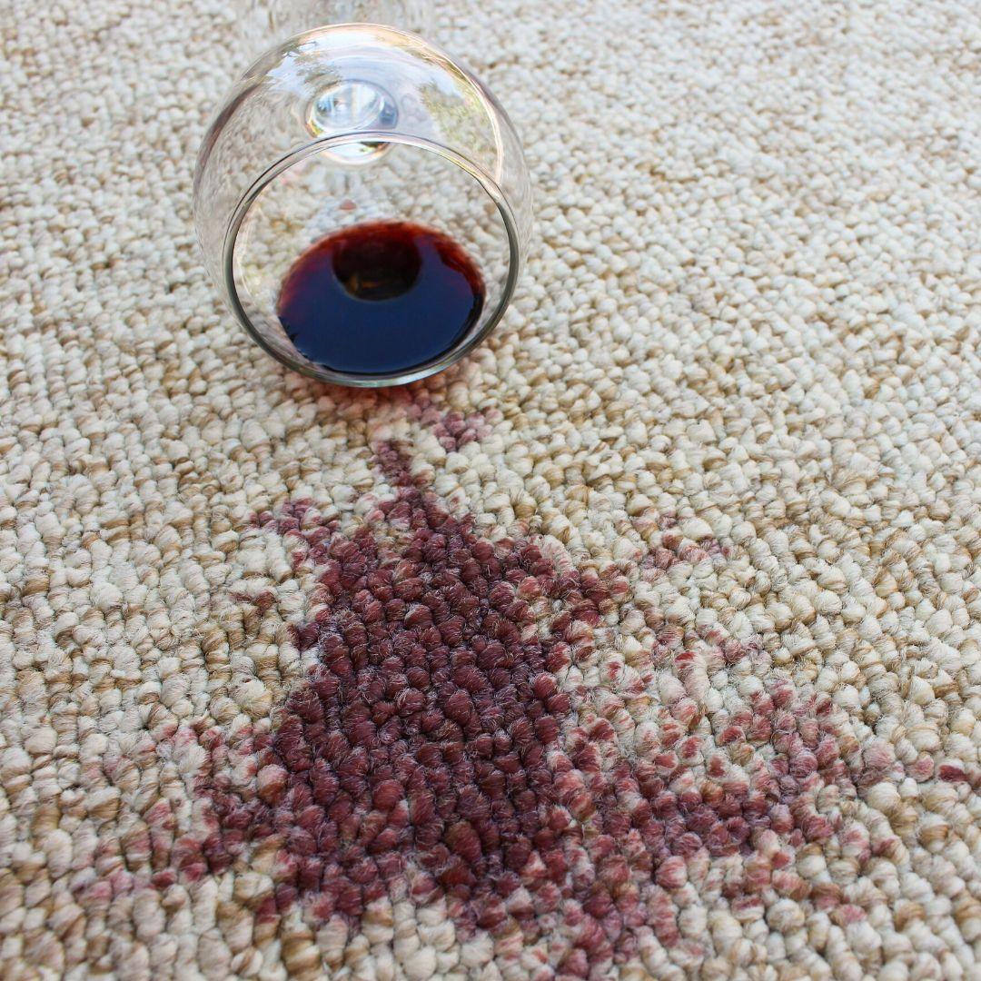 Red Wine on Carpet.