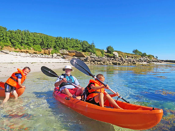 Kayaking on St Martin's