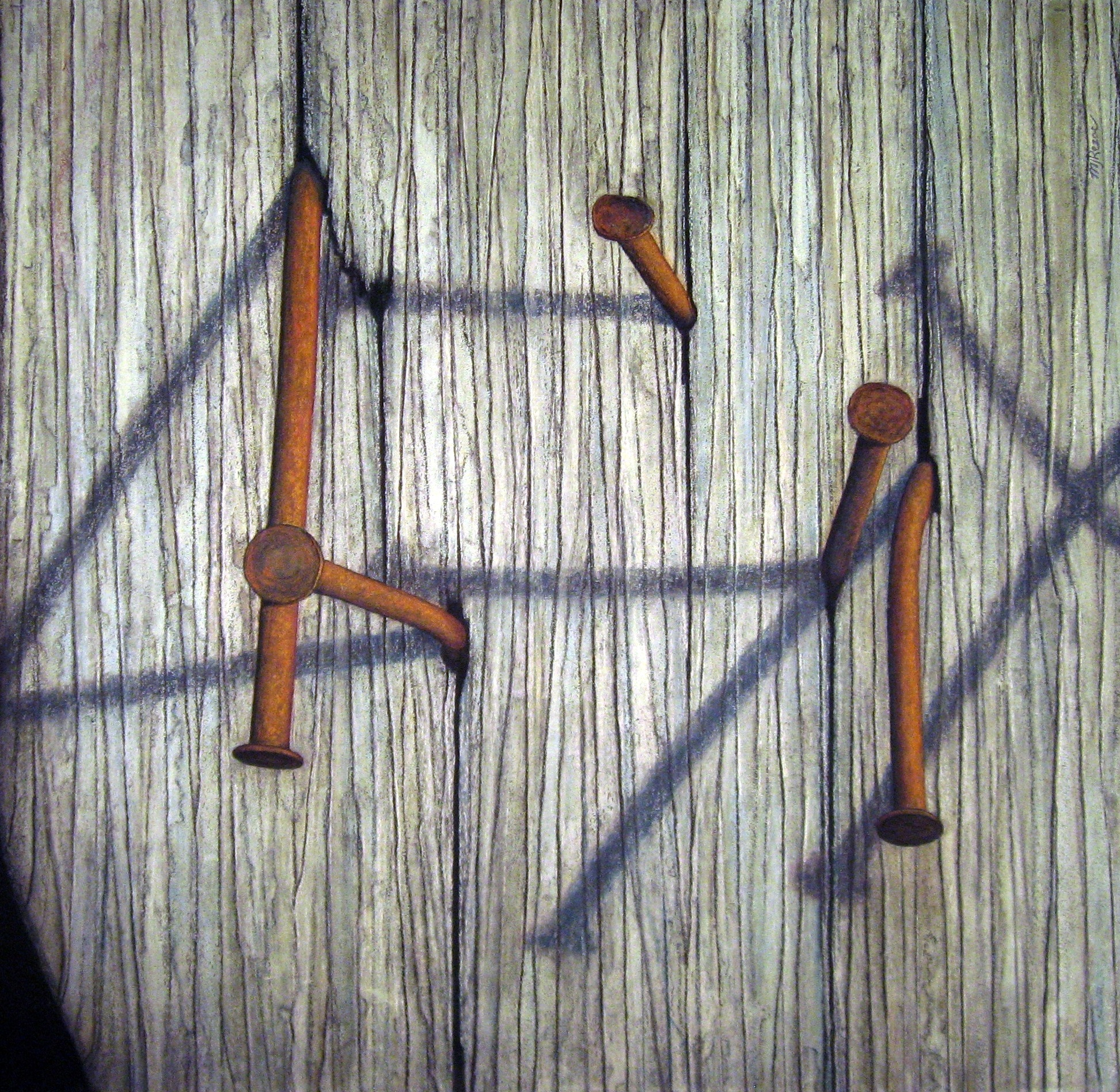 Eight Nails, 30x30, 2012