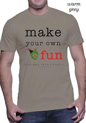"""""""make your own fun"""" for him"""