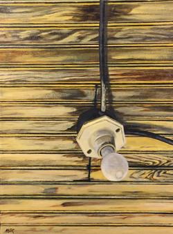 Porch Light, 16x12, 2016