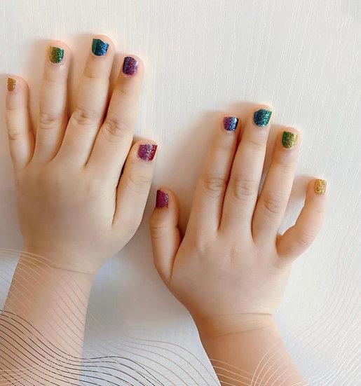 Nail Wraps  Style 4  -美甲貼紙- 小童版