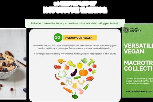 Cóstafit Lifestyle LowCarb&Vegan MacroTrack Bundle + Bonus