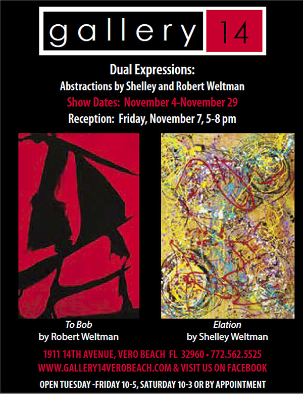 Dual Expressions Featured at Gallery14 in Vero Beach, Florida