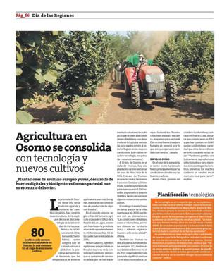 Sobre la consolidación de nuevos cultivos en la 10a región.