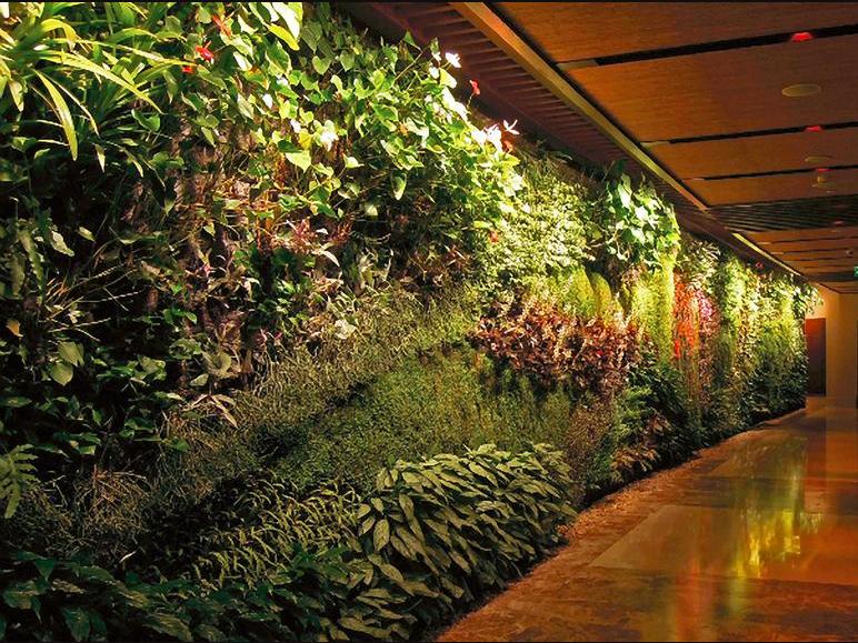 Jardín vertical en interior (referencial)