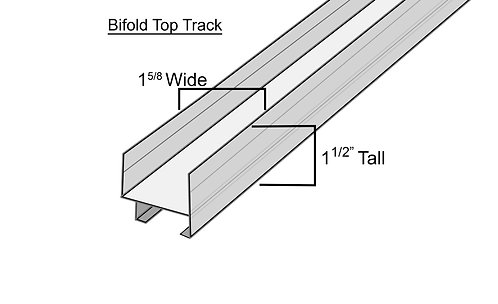 Hardware - Bifold track - Chrome