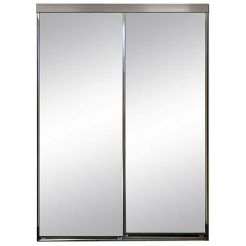 framed mirror sliding doors - White Framed Mirror