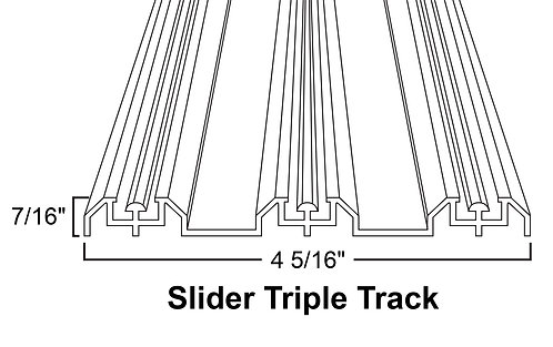 Hardware - Slider Triple Track - Chrome