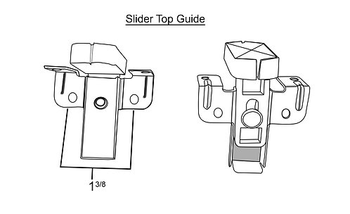 Hardware - Sliding Door Top Guide Brackets