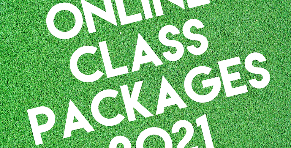 2021 Online Class Packages - 8, 16, 24 Classes