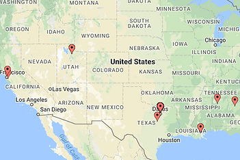 Blume Architecture National Project Pin Map