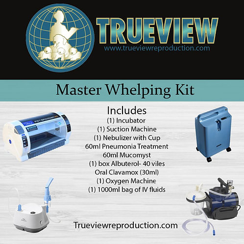 The Master Whelping Kit with new Oxygen Concentrator