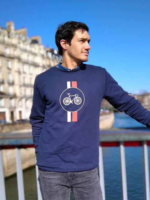 """Sweatshirt en Coton Bio """"Bike Highway"""""""