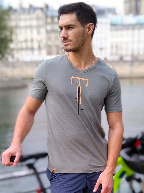 """T-shirt Col V Bio """"Laüft"""""""