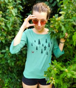 Tshirt bio manche 3/4 Fox Forest