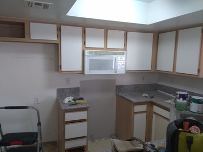 BEFORE: Kitchen Painting