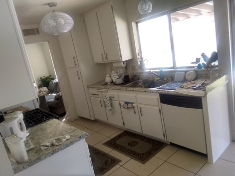 After Kitchen Cabinet Installation and K
