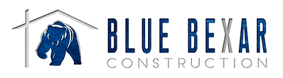 Blue Bexar construction remodeling building logo