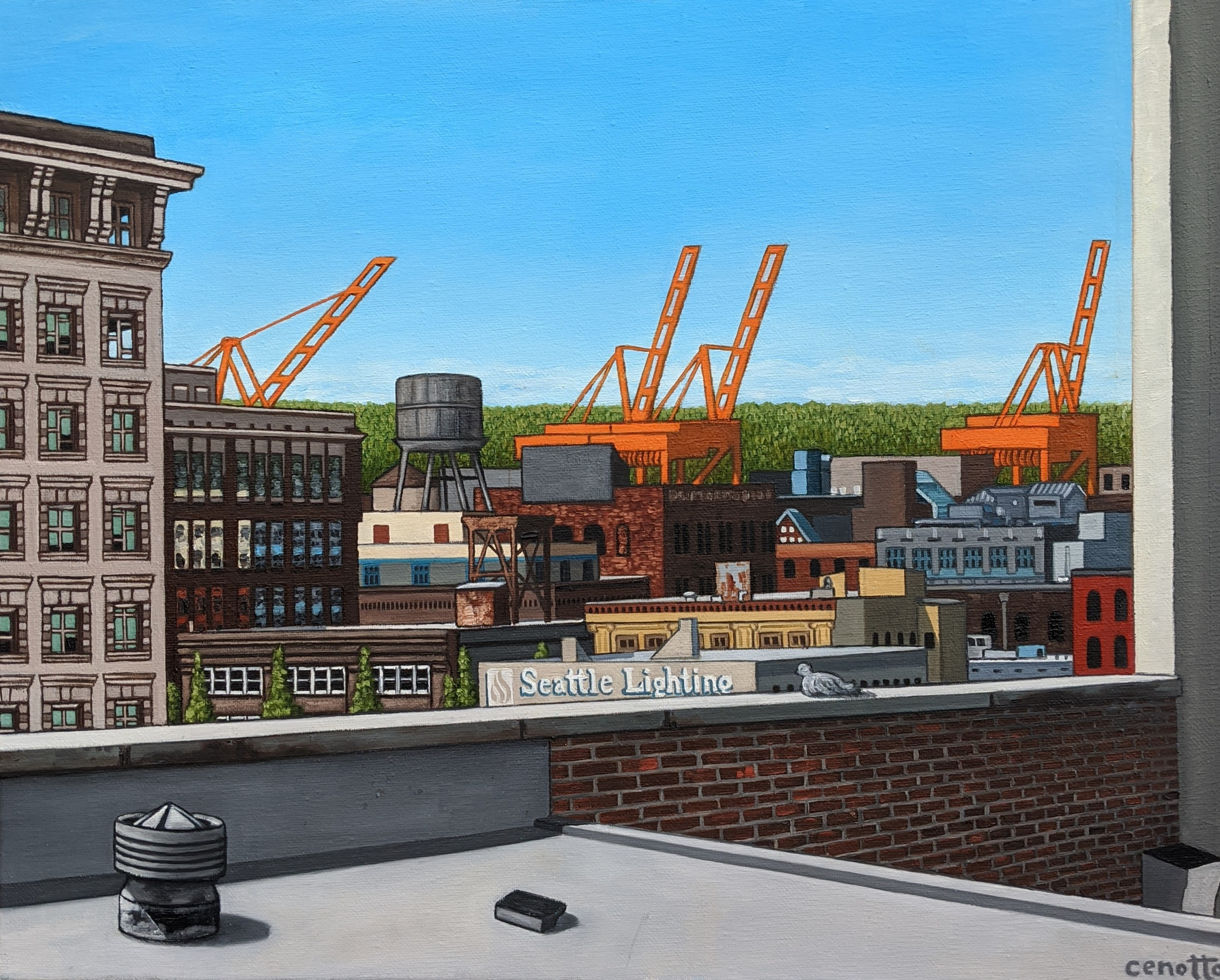 rooftops over pioneer square