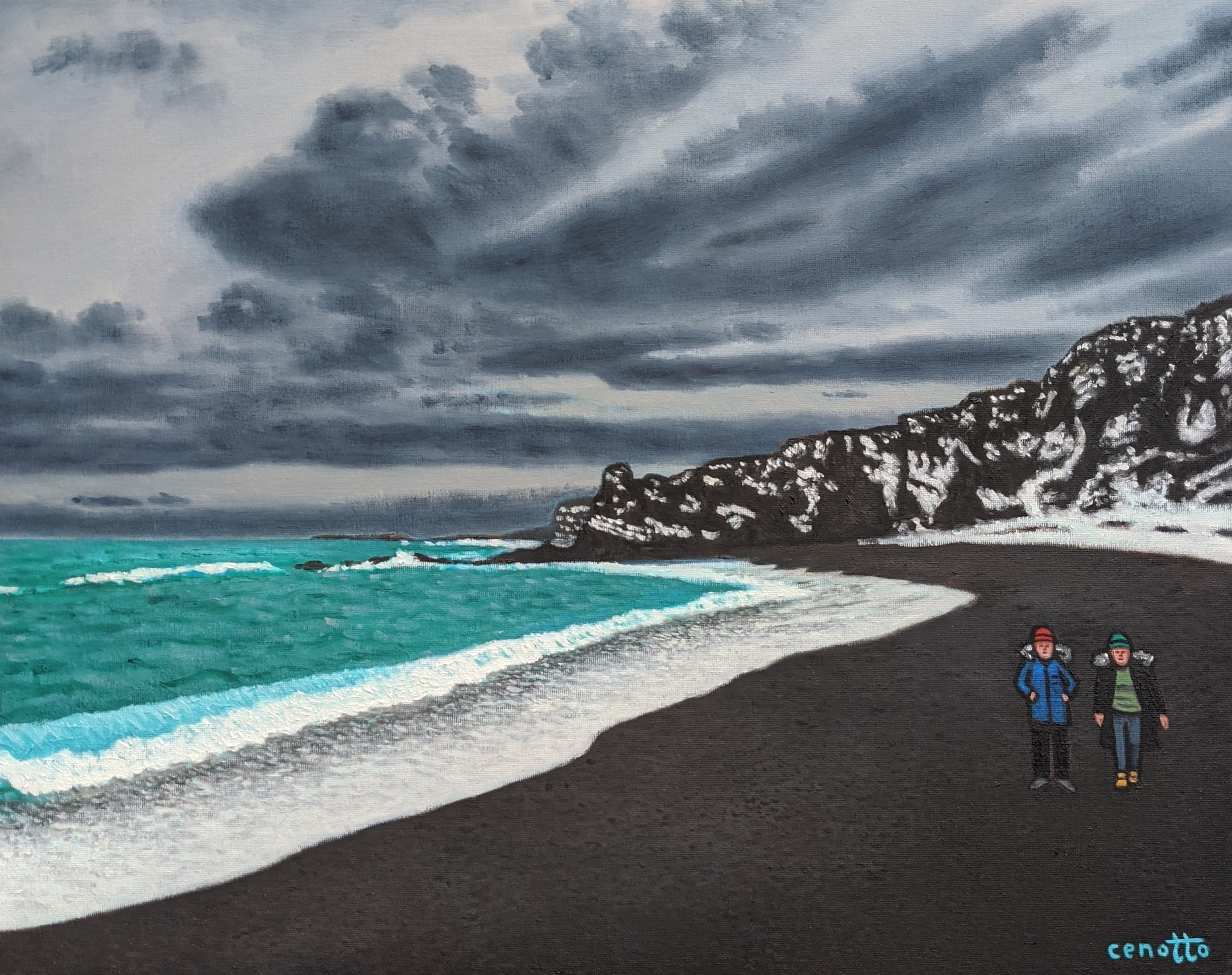 paint it black sand beach