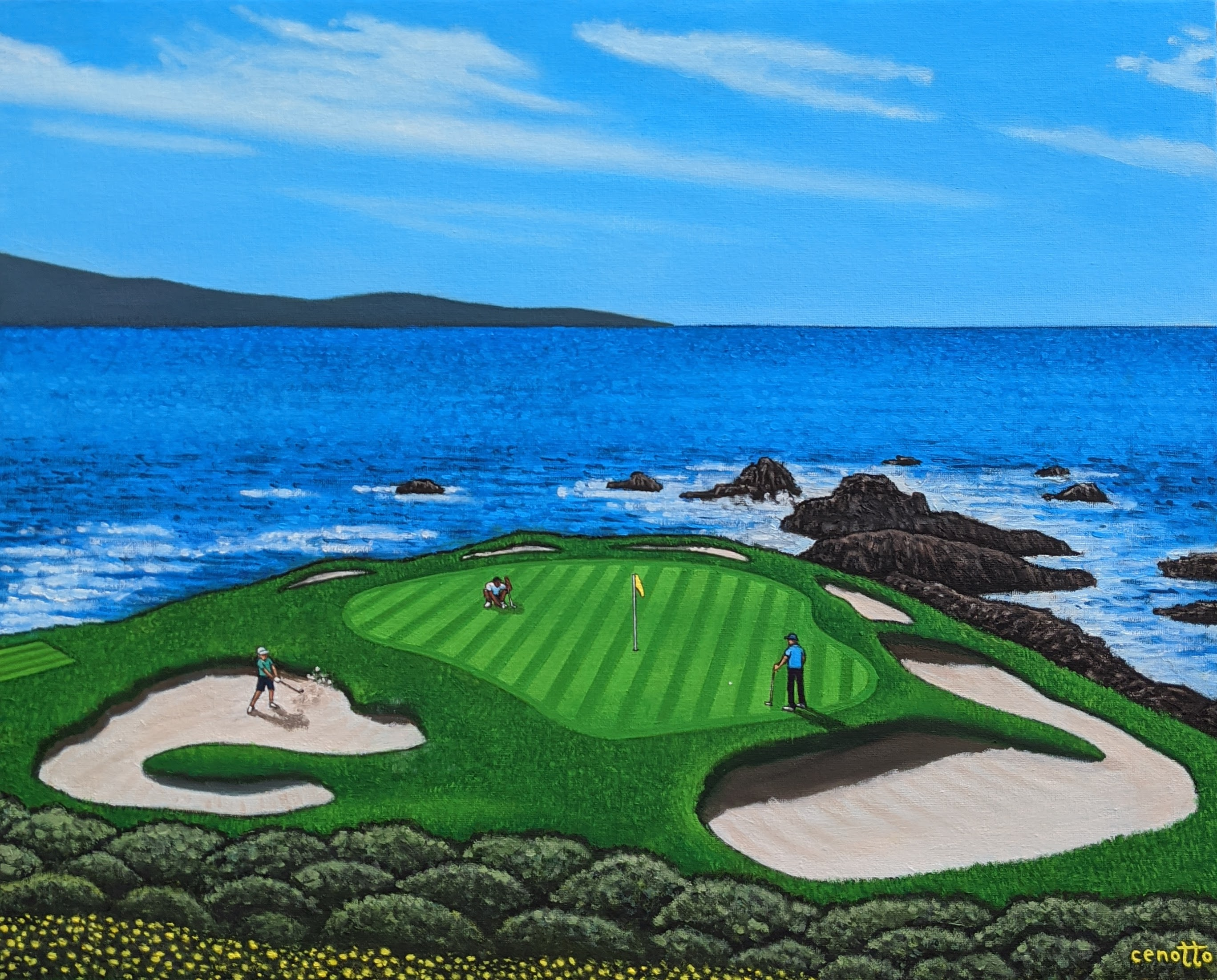 pebble beach postage stamp