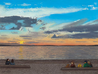 Lawrence Cenotto - Alki Sunset 12x16-web