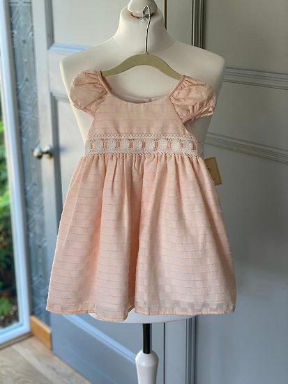 Beautiful Laura Ashley girls peach occasion dress (24 months)