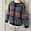 Thumbnail: Vintage LL Bean bright wool animal cardigan. Uk10/12