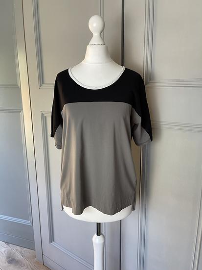 James Perse black/grey t shirt UK12 rrp£94