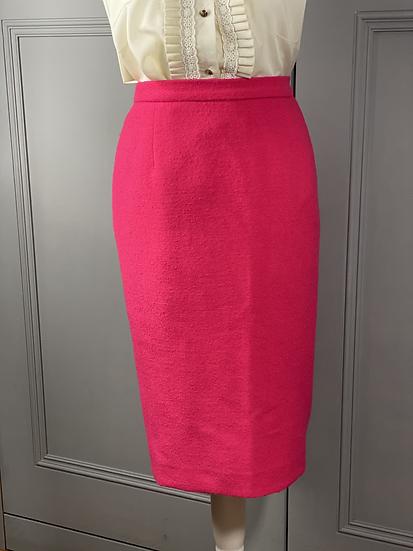 Vintage Jaeger pink wool pencil skirt UK18