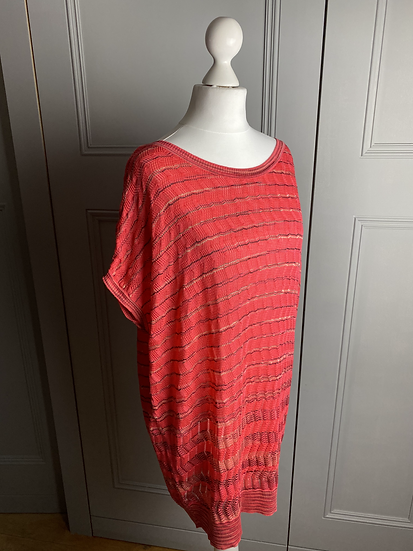 Missoni orange short sleeve jumper uk10-12