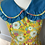 Thumbnail: Girls yellow and blue floral maxi dress age 10-12