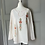 Thumbnail: Vintage white top floral embroidery UK10-12