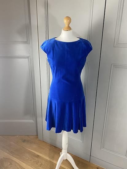 Ted Baker blue velvet short dress. 10/12